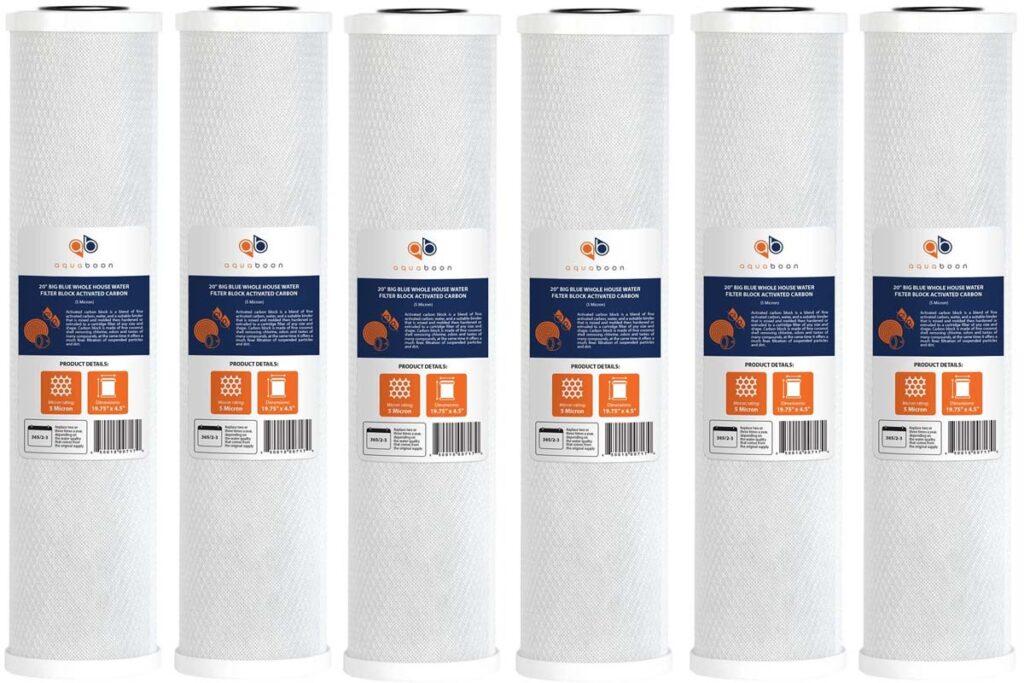 Best 20x4.5 activated carbon block CTO filter cartridge